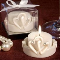 Interlocking Hearts Design Candle Favour